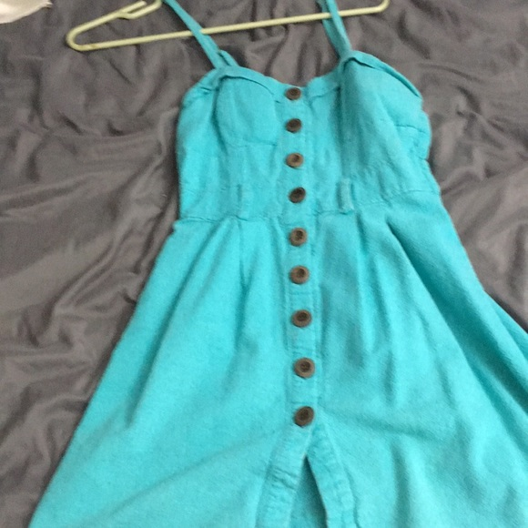 Poetry Dresses & Skirts - Teal poetry dress.